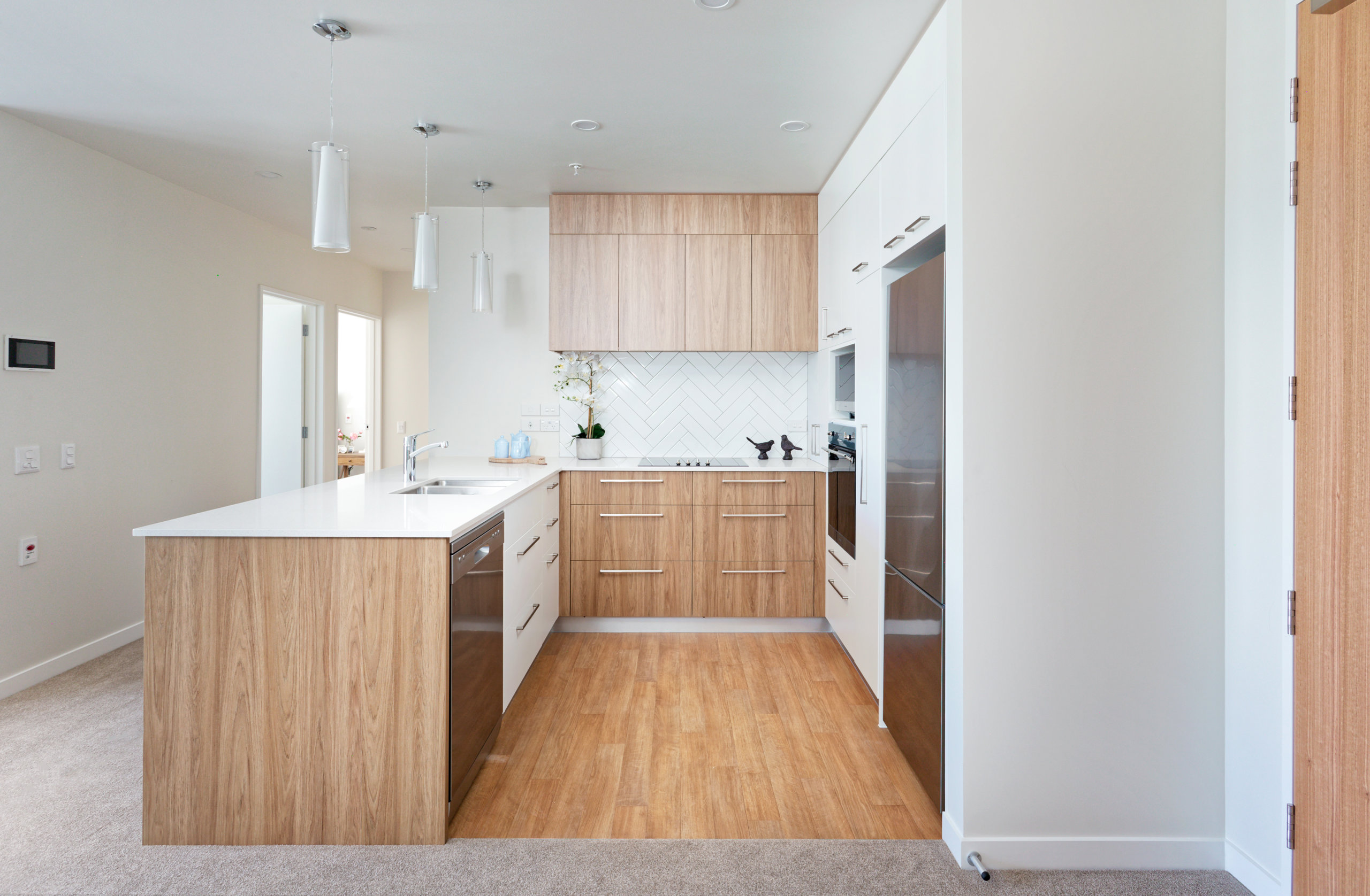 The Bayview Apartment Kitchen