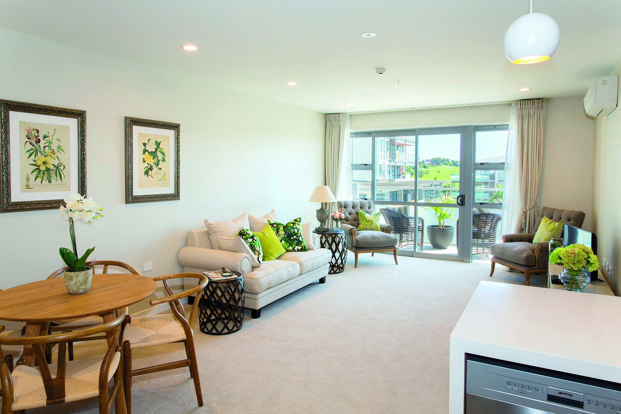 Meadowbank apartment living area