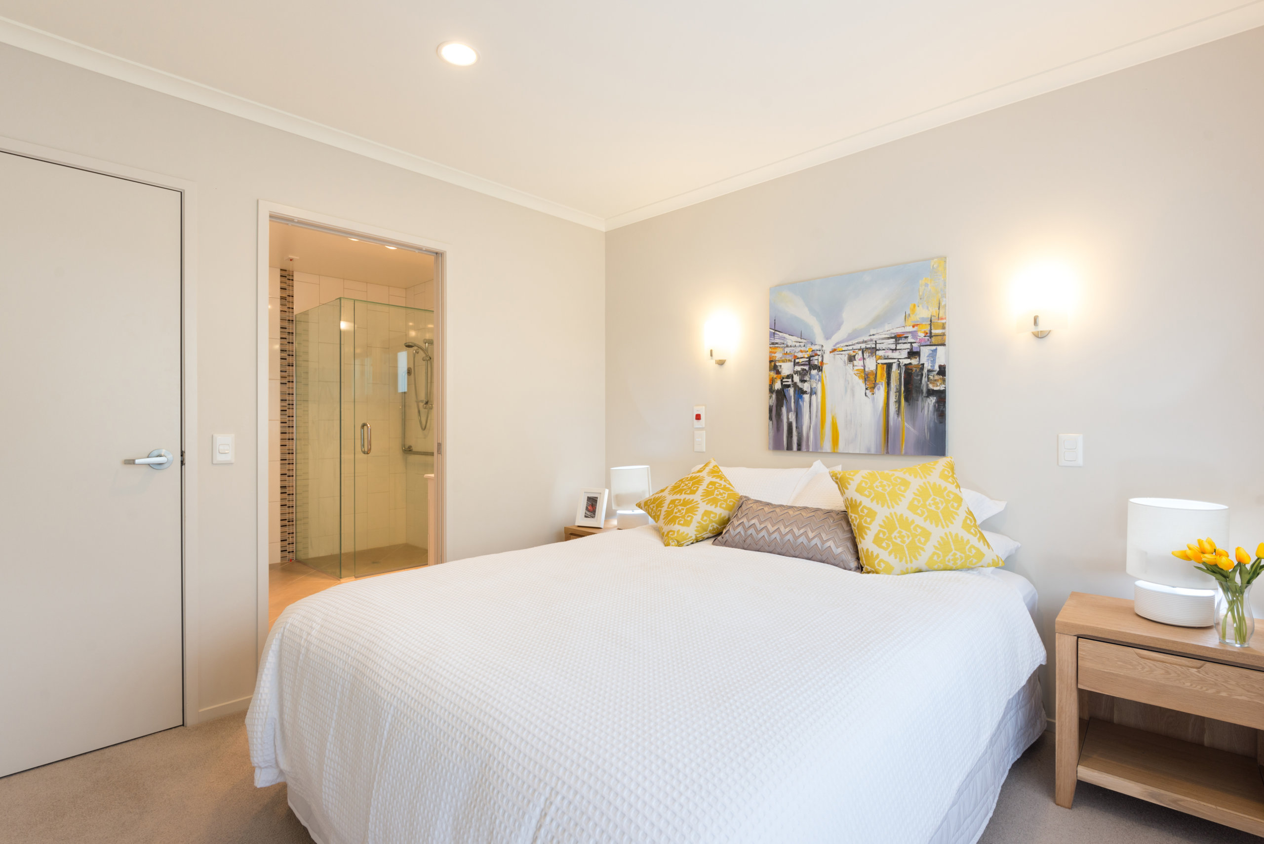 The Bayview Villa Bedroom with double bed and ensuite