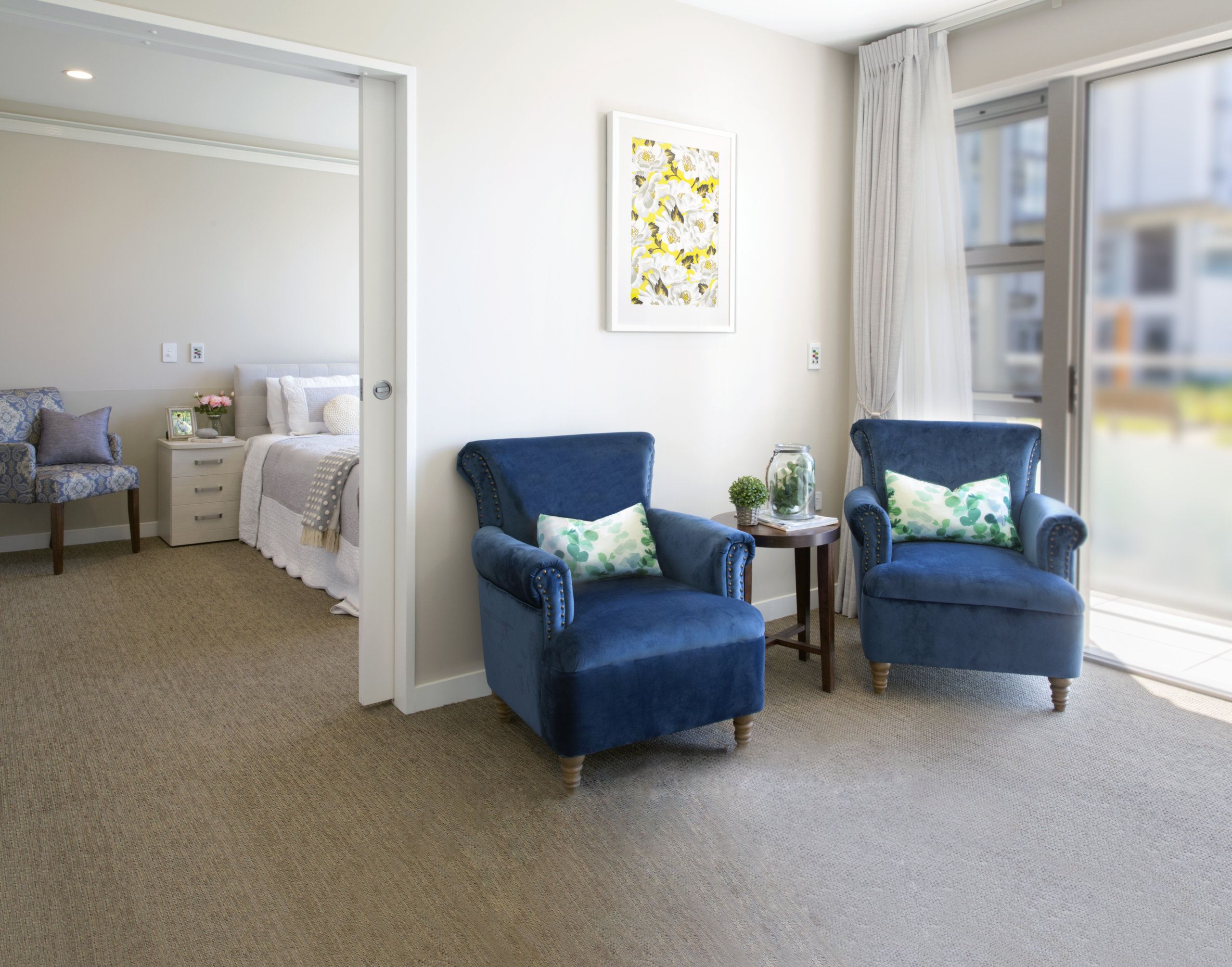 One Bedroom Care Suite for Rest Home and Hospital Care