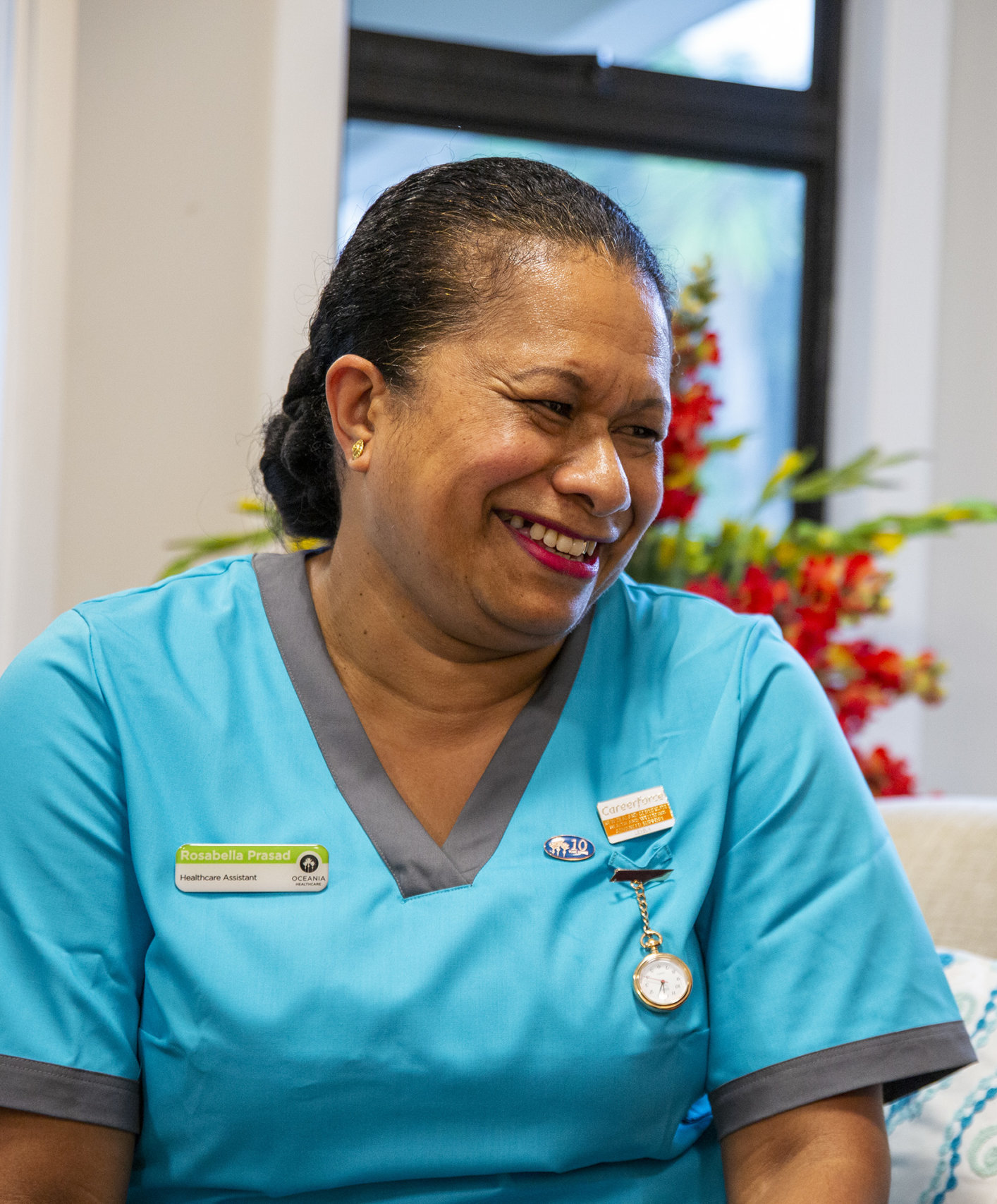 Rose our Oceania Healthcare Assistant smiling