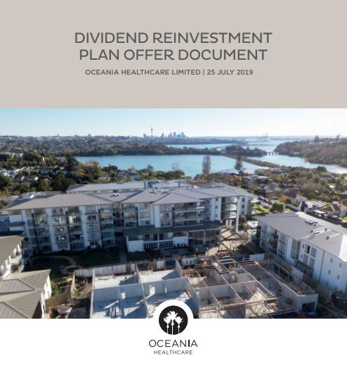 Oceania Healthcare Dividend Reinvestment Plan Offer