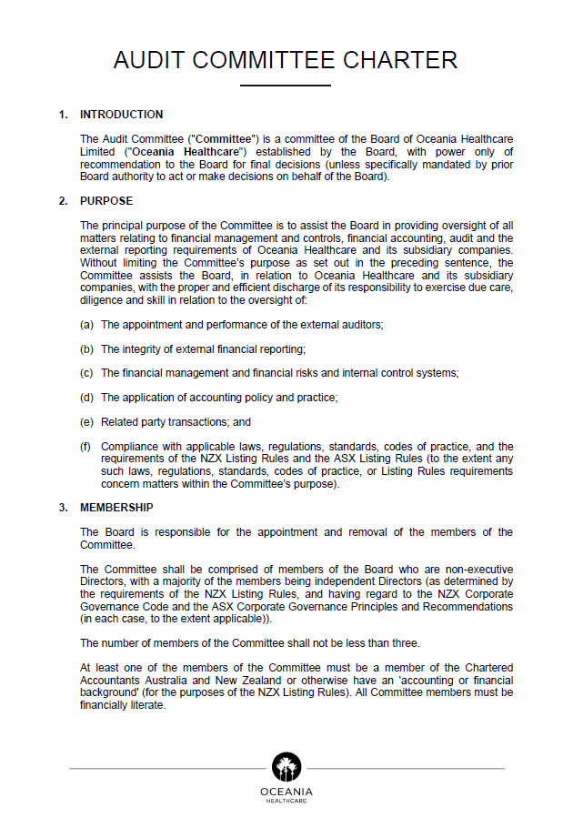 Audit Committee Charter document