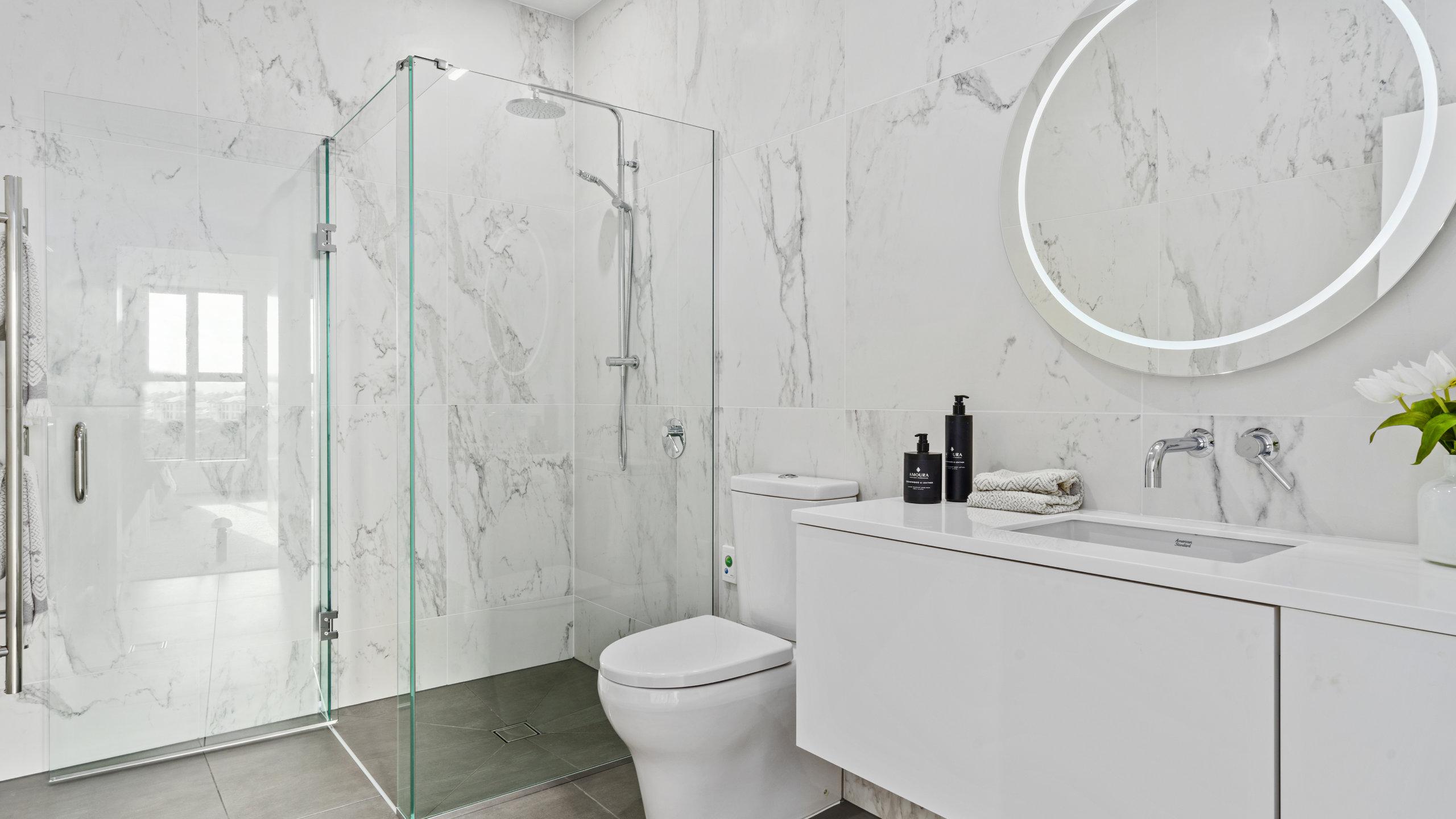 Waterford retirement village apartment bathroom