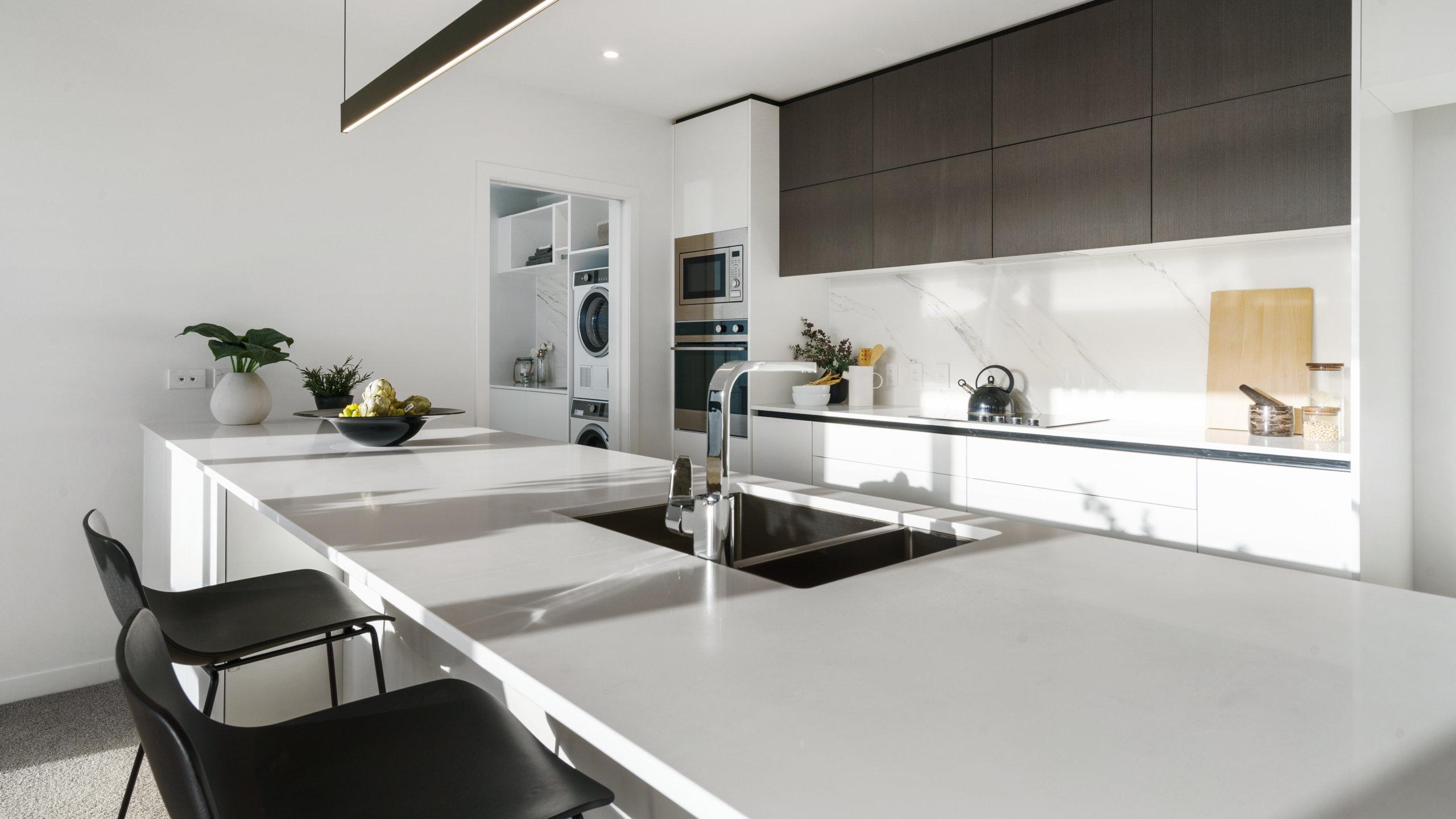 Waterford retirement village luxury apartment kitchen