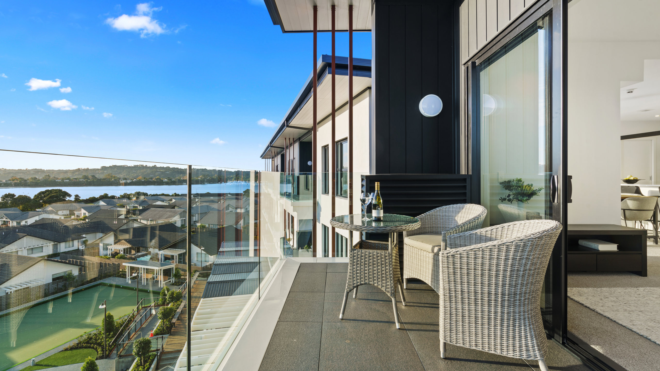 Waterford luxury retirement apartment Hobsonville Point view