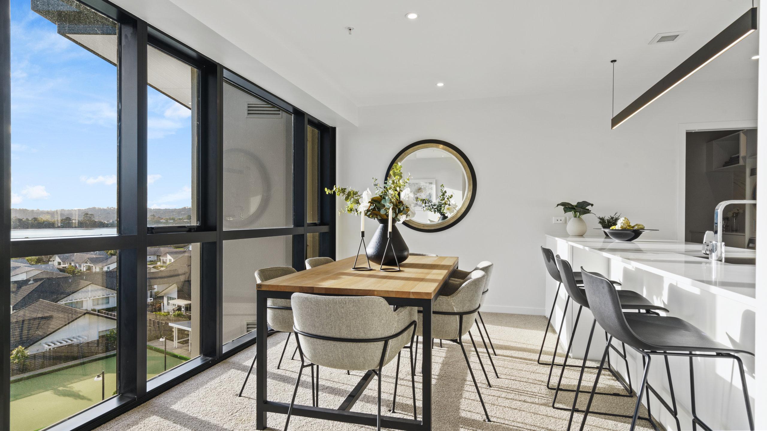 Waterford retirement village luxury apartment kitchen dining area